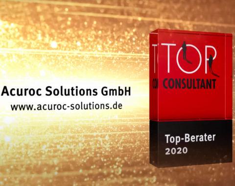 Top Consultant Banner über Auszeichnung 2020 von Acuroc Solutions