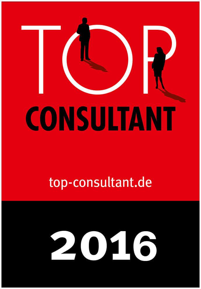 Auszeichnungssiegel für Top Consultant 2016