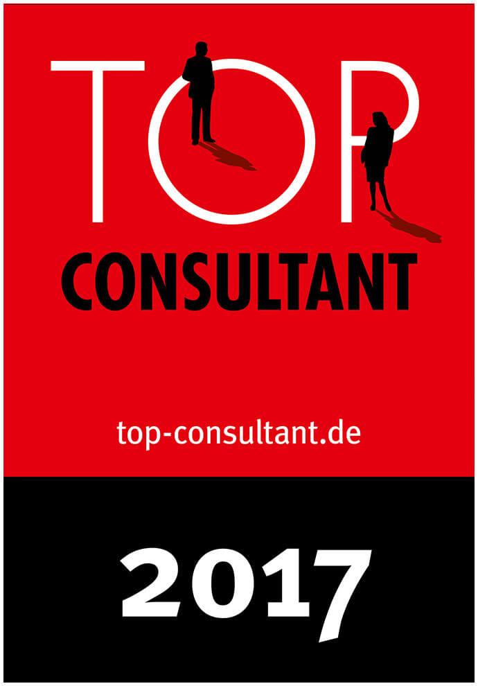 Auszeichnungssiegel für Top Consultant 2017