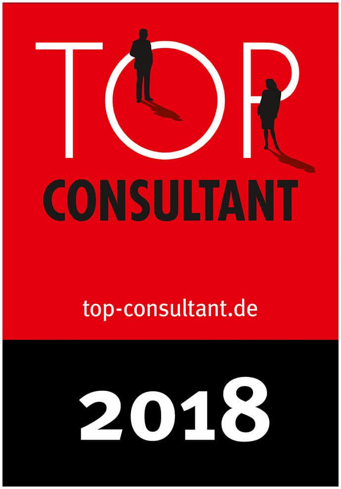 Auszeichnungssiegel für Top Consultant 2018