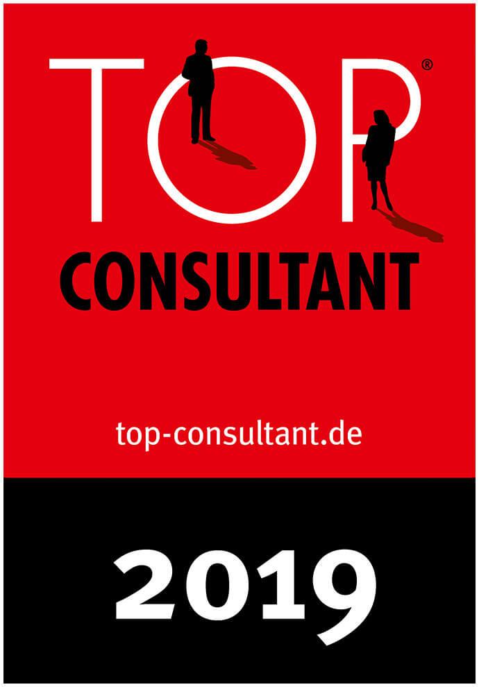 Auszeichnungssiegel für Top Consultant 2019