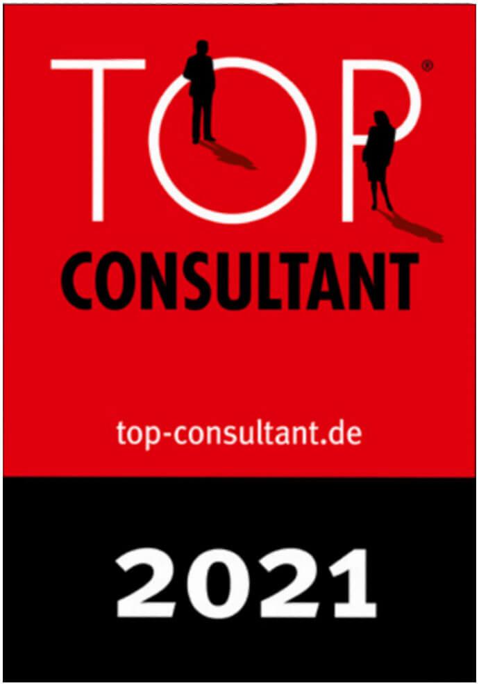 Auszeichnungssiegel für Top Consultant 2021